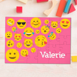 Girl Emojis Personalized Puzzles