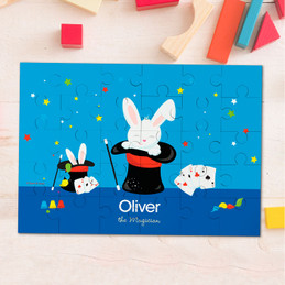 Cute Magician Boy Personalized Puzzles