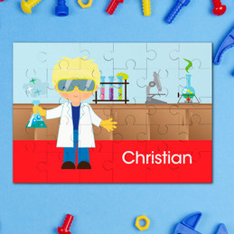 Cool Boy Scientist Personalized Puzzles