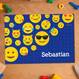 Boy Emojis Personalized Puzzles