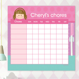 Just Like Me Girl - Pink Chore Chart