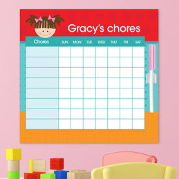 Just Like Me Girl - Red Chore Chart