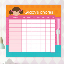 Just Like Me Girl - Orange Chore Chart
