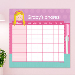 Just Like Me Girl - Lavender Chore Chart