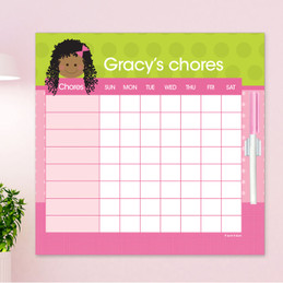 Just Like Me Girl - Green Chore Chart
