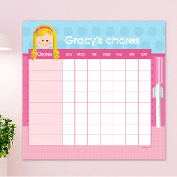 Just Like Me Girl - Lite Blue Chore Chart