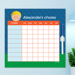 Just Like Me Boy - Green & Blue Chore Chart