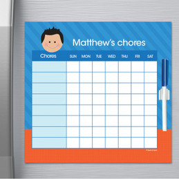 Just Like Me Boy - Bright Orange Chore Chart
