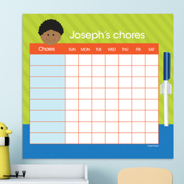 Just Like Me Boy - Blue & Lime Chore Chart