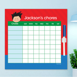 Just Like Me Boy - Blue & Red Chore Chart