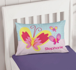 Smiley Butterfly Pillowcase Cover