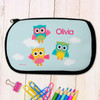 Three Owls Pencil Case for Kids