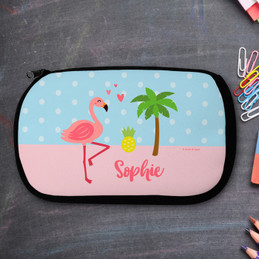Sweet Flamingo Love Pencil Case