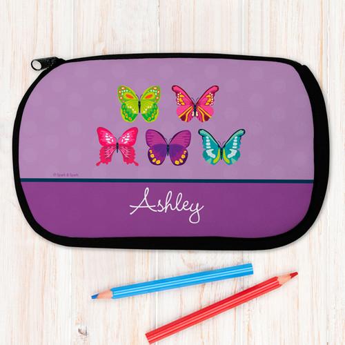 Bright Butterflies Pencil Case