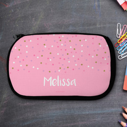 Sweet Glitter Dots Pencil Case