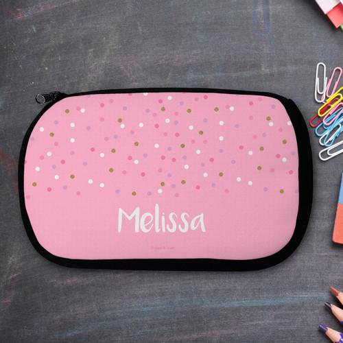 Sweet Glitter Dots Pencil Case