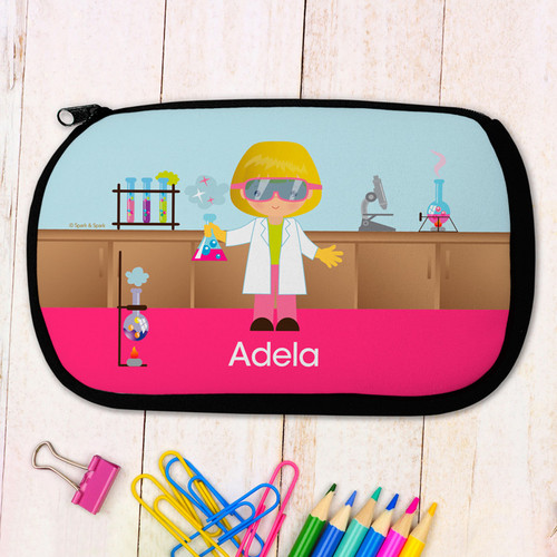 Cute Scientist Pencil Case