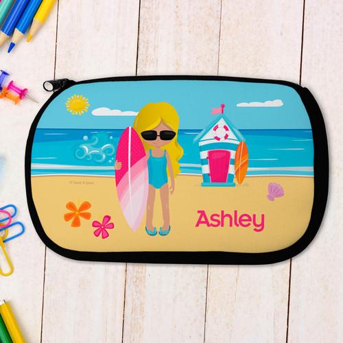 Beach Girl Pencil Case