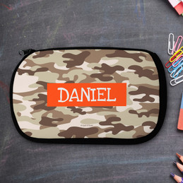 Brown Camouflage Pencil Case by Spark & Spark