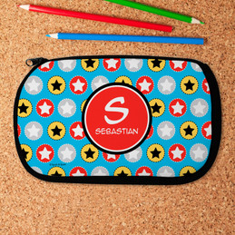 Super Hero Stars Pencil Case by Spark & Spark