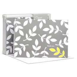 Leafy bunch White Notecards
