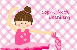 A Cute Ballerina Calling Card