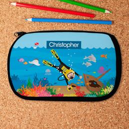 Diver Boy Pencil Case