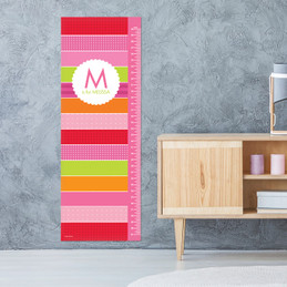 Bold & Fun Stripes Growth Chart