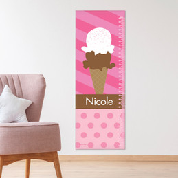 Sweet & Yummy - Pink Growth Chart