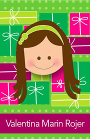 Green Between Gifts Calling Card