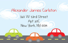 Kiddie Car Race Calling Card