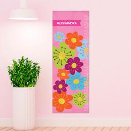 Shiny Bold Flowers Growth Chart