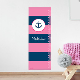 Let's Sail - Pink Growth Chart