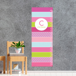 Pastel Stripes Growth Chart