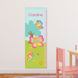 Cute And Sweet Butterfly Growth Chart