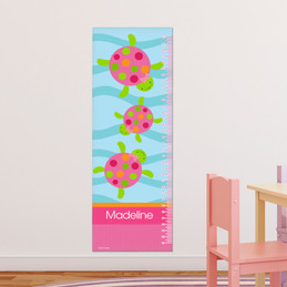 Swimming Pink Turtle Growth Chart