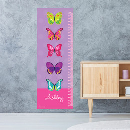 Bright Butterflies Growth Chart