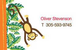 Playful Monkey Calling Card