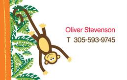 Playful Monkey Calling Card
