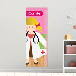 Doctor's Girl Visit Kids Growth Chart