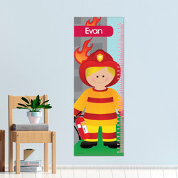Call A Firefighter Kids Growth Chart
