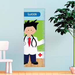 Doctor'S Boy Visit Kids Growth Chart