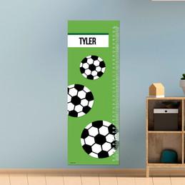Soccer Fan Green Growth Chart