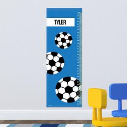 Soccer Fan Blue Growth Chart