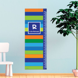 Bold Stripes Growth Chart