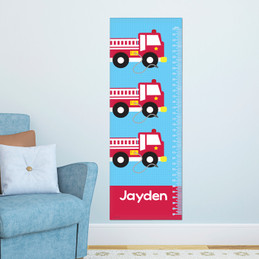 Cool Firetruck Growth Chart