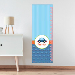 Cute Little Car Pattern Growth Chart