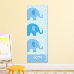 Blue Baby Elephant Growth Chart