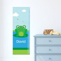 Cute Smiley Frog Growth Chart