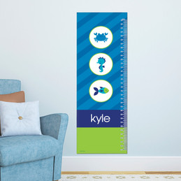 Cute Undersea Creatures Growth Chart